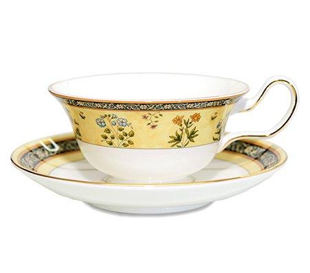 WEDGWODD ウェッジウッド インディア カップ&ソーサー ピオニー 紅茶入れ used 英国雑貨の写真