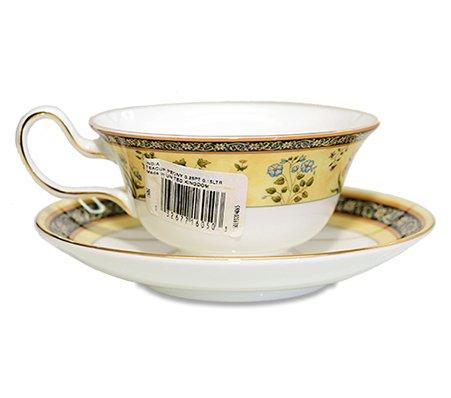 WEDGWODD ウェッジウッド インディア カップ&ソーサー ピオニー 紅茶入れ used 英国雑貨の写真No.2