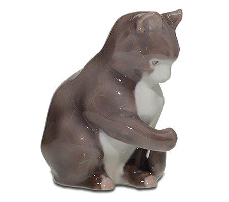 B&G/ビングオーグレンダール フィギュリン 座る猫/Kitten Sitting 1553【送料無料】の写真No.2