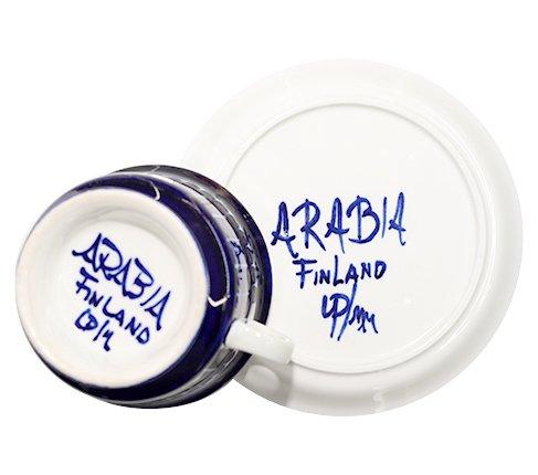 アラビア バレンシア ティーカップ&ソーサー ウラ・プロコッペ  ARABIA Valencia コレクション 希少 廃盤 食器【送料無料】の写真No.6