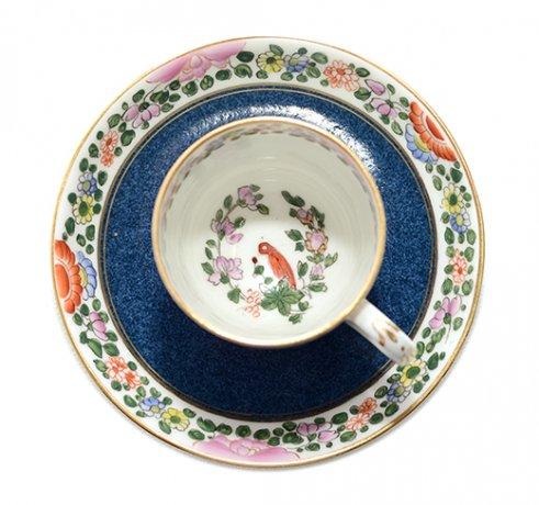 【送料無料】オールドロイヤルウースターOld Worcester Parrotデミタスカップ&ソーサーC.1760.A.D.Royal Worcesterの写真No.5