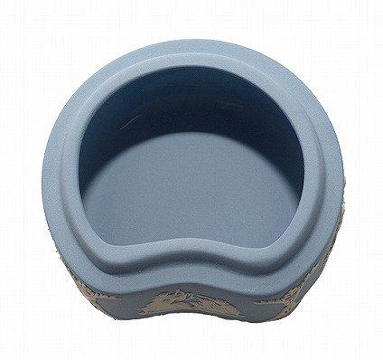 ウェッジウッド ジャスパー ペールブルー 蓋つきボックス   WEDGWOOD 廃盤 食器 ヴィンテージ used の写真No.4