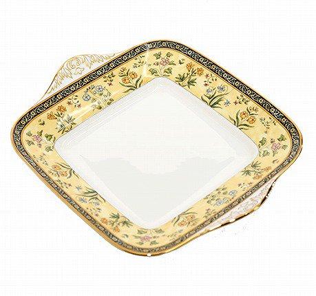 【セール】WEDGWODD ウェッジウッド インディア ブレッド&バタープレート(BB手付)   ウエッジウッド 廃盤 ブランド食器 トレイ アンティーク usedの写真No.4