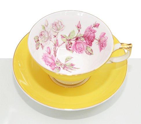 エインズレイ エリザベスローズ ティーカップ&ソーサー アセンズ イエロー Aynsley/Elizabeth Rose 紅茶カップ ギフトの写真