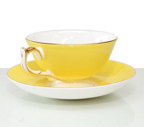 エインズレイ エリザベスローズ ティーカップ&ソーサー アセンズ イエロー Aynsley/Elizabeth Rose 紅茶カップ ギフトの写真No.3
