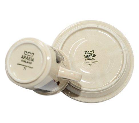 アラビア Arabia ルイージャ コーヒーカップ&ソーサー  ARABIA Ruija 廃盤 食器 arabia finland の写真No.6