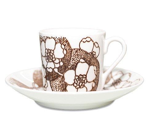 グスタフスベリ エマ ブラウン コーヒーカップ&ソーサー Gustavsberg Emmaの写真