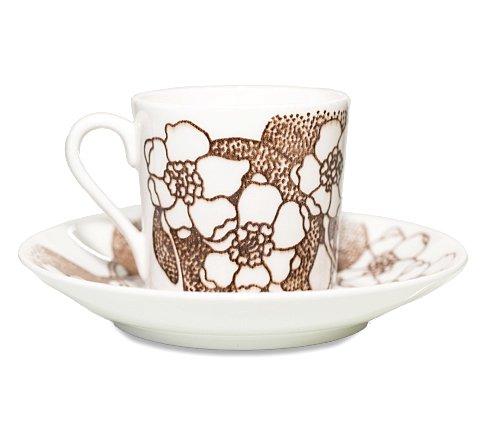 グスタフスベリ エマ ブラウン コーヒーカップ&ソーサー Gustavsberg Emmaの写真No.2