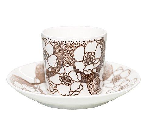 グスタフスベリ エマ ブラウン コーヒーカップ&ソーサー Gustavsberg Emmaの写真No.3