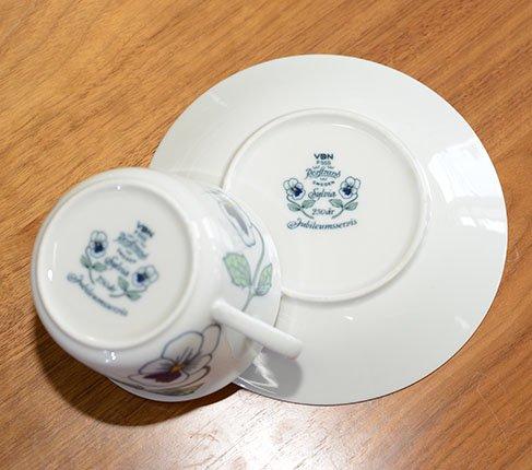 ロールストランド シルビア ティーカップ&ソーサー RORSTRAND Silvia 紅茶カップ 廃盤 人気の写真No.8