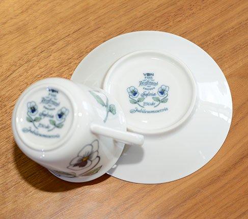 ロールストランド シルビア コーヒーカップ&ソーサー RORSTRAND Silvia 海外直輸入 usedの写真No.7