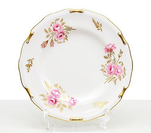 ロイヤルクラウンダービー ピンクストンローズ プレート16cm  陶磁器ブランド/Royal Crown Derby 皿 食器の写真