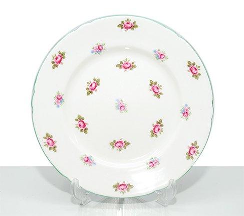 シェリー ローズバッド プレート 18cm No.13426 Shelley Rosebud 花柄 ヴィンテージ ピンク ローズの写真