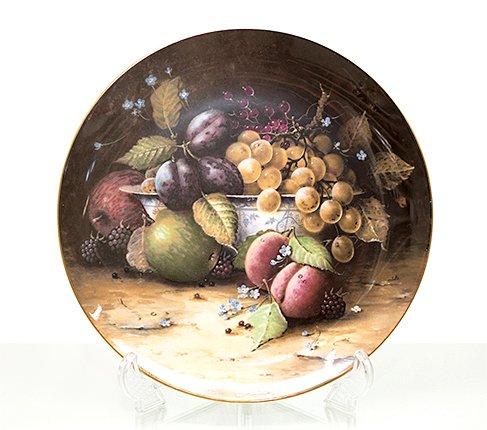 コールポート Still Life Fruit ブループリントのボウルと果物 限定2500枚  Coalport 飾り皿 観賞 コレクション 廃盤 希少の写真