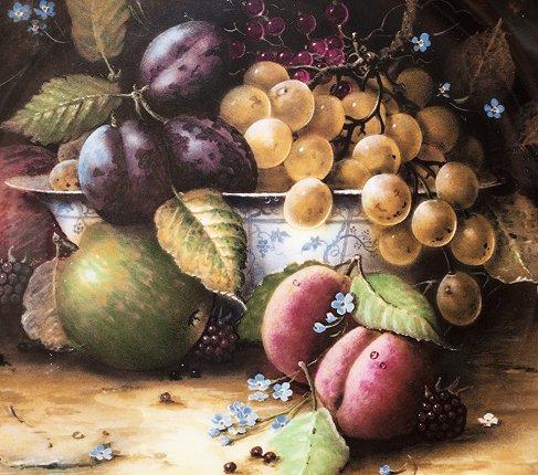 コールポート Still Life Fruit ブループリントのボウルと果物 限定2500枚  Coalport 飾り皿 観賞 コレクション 廃盤 希少の写真No.2