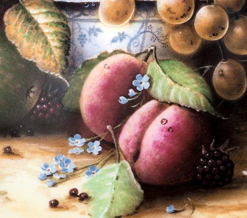コールポート Still Life Fruit ブループリントのボウルと果物 限定2500枚  Coalport 飾り皿 観賞 コレクション 廃盤 希少の写真No.3