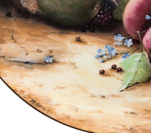 コールポート Still Life Fruit ブループリントのボウルと果物 限定2500枚  Coalport 飾り皿 観賞 コレクション 廃盤 希少の写真No.4