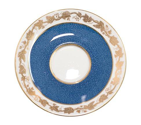 【送料無料】ウェッジウッド ホワイトホール ブルー カップ&ソーサー ピオニー&プレート15cm(トリオ) WEDGWOOD 紅茶カップの写真No.6