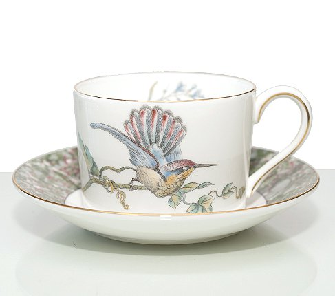黒壺マーク ウェッジウッド ハミングバード カップ&ソーサー インペリアル WEDGWODD HUMMING BIRDS ウエッジウッド 廃盤 紅茶カップの写真