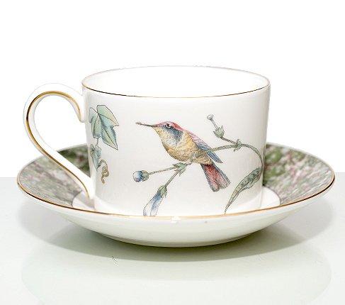 黒壺マーク ウェッジウッド ハミングバード カップ&ソーサー インペリアル WEDGWODD HUMMING BIRDS ウエッジウッド 廃盤 紅茶カップの写真No.2