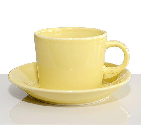 アラビア ティーマ イエロー コーヒーカップ&ソーサー Teema 廃盤の写真
