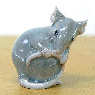 ◇【送料無料】B&G ビングオーグレンダール フィギュリン ネズミ/Mouse gray