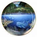 ◇ロバート・リン・ネルソン 絵皿 水中の楽園/Underwater Paradise-ポール/Chez Paul-