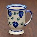 ◇【新品】ボレスワヴィエツ陶器/Boleslawiec ブルーフラワー/Blue Flower マグカップ 300ml