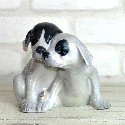 ◇ロイヤルコペンハーゲン フィギュリン 2匹のポインターの幼犬の写真