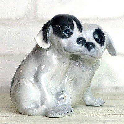 ◇ロイヤルコペンハーゲン フィギュリン 2匹のポインターの幼犬の写真No.3