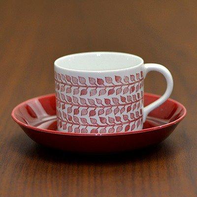 ◇ロールストランド/Rorstrand ミア/Mia コーヒーカップ&ソーサー レッド/Redの写真