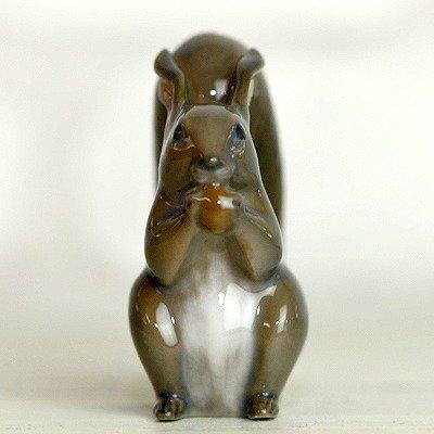 ◇ロイヤルコペンハーゲン/ROYAL COPENHAGEN フィギュリン リス/Squirrel with nut 982の写真No.3