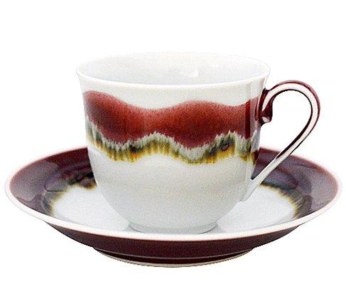 【送料無料】【新品】有田焼 真右ェ門窯 シルクロード コーヒーカップ&ソーサー/珈琲碗皿の写真