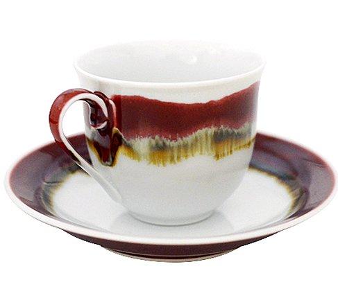 【送料無料】【新品】有田焼 真右ェ門窯 シルクロード コーヒーカップ&ソーサー/珈琲碗皿の写真No.2
