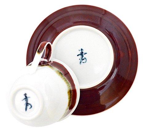 【送料無料】【新品】有田焼 真右ェ門窯 シルクロード コーヒーカップ&ソーサー/珈琲碗皿の写真No.4