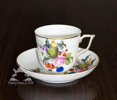 ◇ヘレンド/Herend フルーツバスケット/BFR コーヒーカップ&ソーサーの写真
