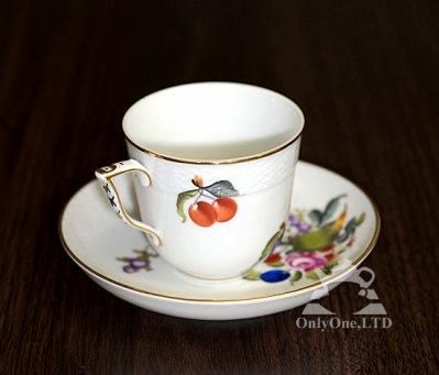 ◇ヘレンド/Herend フルーツバスケット/BFR コーヒーカップ&ソーサーの写真No.2