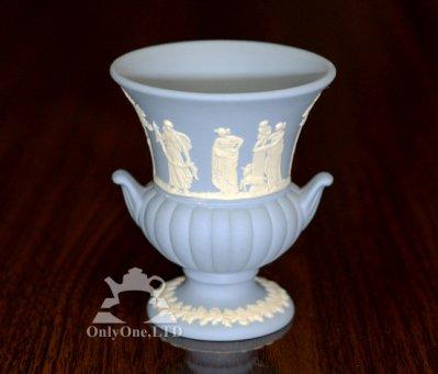 ◇ウェッジウッド/WEDGWOOD ジャスパー/Jasper ギリシャ神話 ペールブルー ベース/Vaseの写真