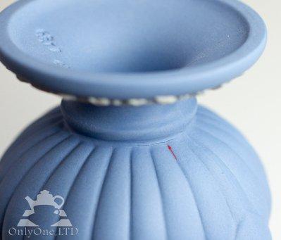 ◇ウェッジウッド/WEDGWOOD ジャスパー/Jasper ギリシャ神話 ペールブルー ベース/Vaseの写真No.4