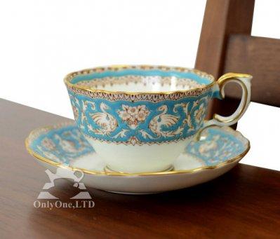 ◇クラウンスタフォードシャー Ellesmere コーヒーカップ&ソーサーの写真