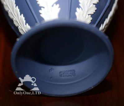 ◇ウェッジウッド/WEDGWOOD ジャスパー/Jasper ポートランドブルー ラベンダー ベース/Vase 20cmの写真No.3