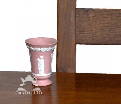 ◇ウェッジウッド/WEDGWOOD ジャスパー/Jasper ピンク/Pink ギリシャ神話 ミニチュアベース/Vaseの写真