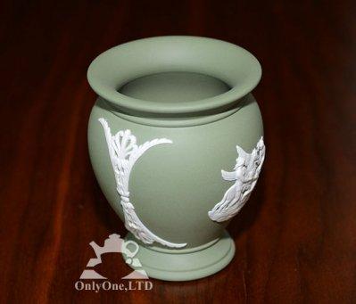 ◇ウェッジウッド/WEDGWOOD ジャスパー/Jasper ギリシャ神話 セージグリーン/Sage green ベース/Vaseの写真No.3