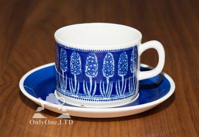 ◇ゲフレ/Gefle ウプサラエクビー/Upsala Ekeby 青いヒヤシンス/Bla Hyacint コーヒーカップ&ソーサーの写真No.2
