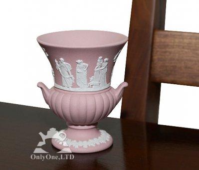 ◇ウェッジウッド/WEDGWOOD ジャスパー/Jasper ピンク/Pink ギリシャ神話 ベース/Vaseの写真