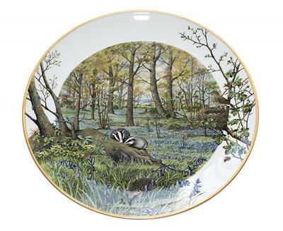 フランクリン・ポーセリン/Franklin Pocelain Peter Barrett マンスリープレート 4月の森/The Woodlands in Aprilの写真