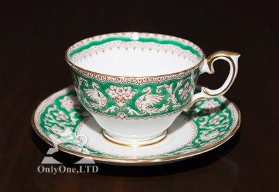 ◇クラウンスタフォードシャー/Crown Staffordshire エルズミーア/Ellesmere コーヒーカップ&ソーサー(グリーン)の写真