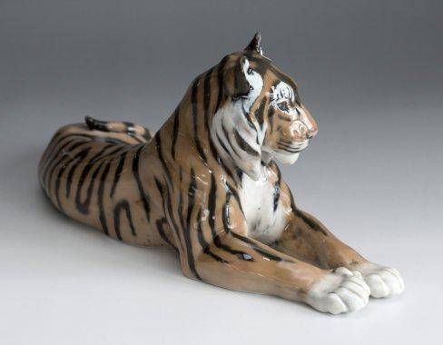 【送料無料】【今だけ価格】【希少】ロイヤルコペンハーゲン/ROYAL COPENHAGEN フィギュリン タイガー/Tiger 7…