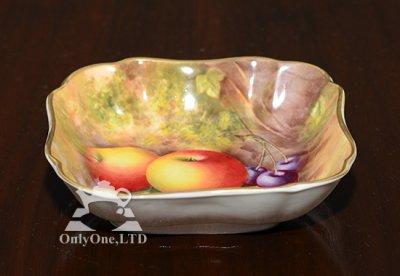 ◇ロイヤルウースター/Royal Worcester ペインテッドフルーツ/Painted Fruits スクエアディッシュ 12cmの写真No.2