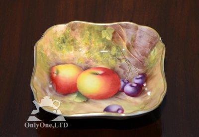 ◇ロイヤルウースター/Royal Worcester ペインテッドフルーツ/Painted Fruits スクエアディッシュ 12cmの写真No.3